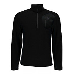 Spyder Bandit Half Zip Mens Sweater, Black-Black, 256