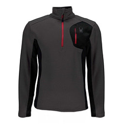 Spyder Bandit Half Zip Mens Sweater, Polar-Black, 256