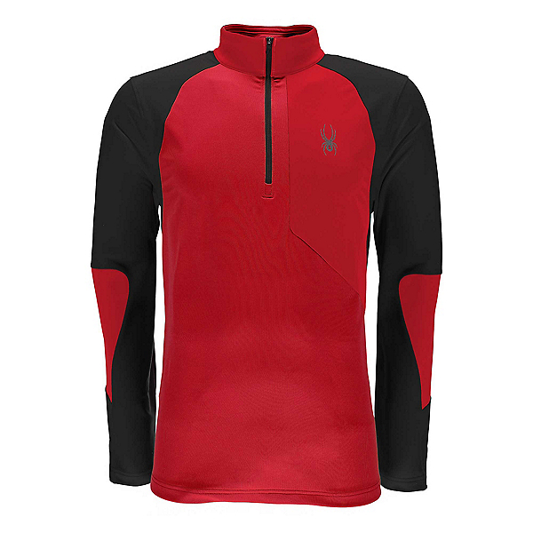 Spyder Charger Thermastretch Mens Mid Layer, Red-Black, 600
