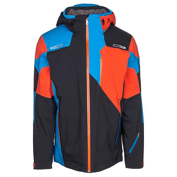 Spyder Vyper Mens Insulated Ski Jacket, Black-Burst, 600