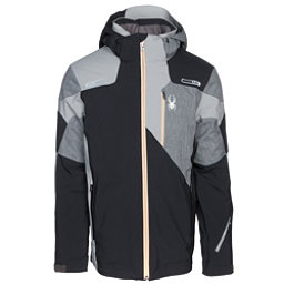 Spyder Vyper Mens Insulated Ski Jacket, Black-Polar Herringbone, 256