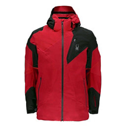 Spyder Leader Mens Insulated Ski Jacket, Red-Black, 256
