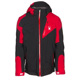 Spyder Leader Mens Insulated Ski Jacket, Black-Red, 256