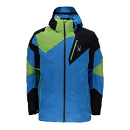 Spyder Leader Mens Insulated Ski Jacket, French Blue-Black, 256