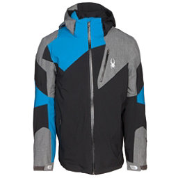 Spyder Leader Mens Insulated Ski Jacket, Black-Polar Herringbone, 256