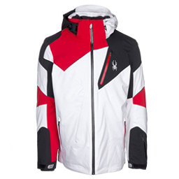 Spyder Leader Mens Insulated Ski Jacket, White-Black, 256
