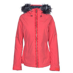 O'Neill Curve w/Faux Fur Womens Insulated Ski Jacket, Hibiscus Red, 256