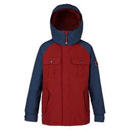 Burton Fray Boys Snowboard Jacket, Fired Brick-Mood Indigo, 256