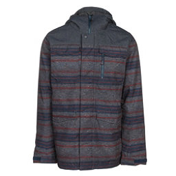 Burton Covert Mens Insulated Snowboard Jacket, Denim-Faded Motor City Print, 256