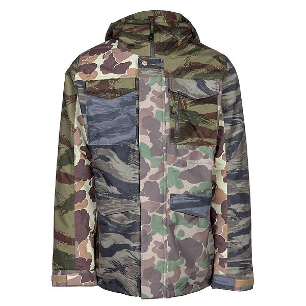 Burton Covert Mens Insulated Snowboard Jacket, Camo Block, 600