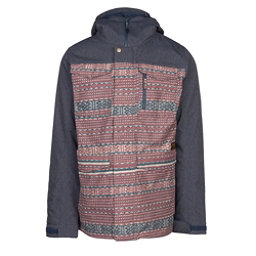 Burton Covert Mens Insulated Snowboard Jacket, Fired Brick Tanimbar-Denim, 256