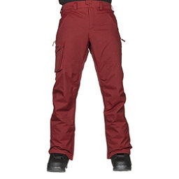 Burton Covert Insulated Mens Snowboard Pants, Fired Brick, 256
