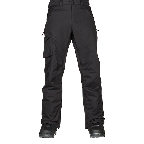 Burton Covert Insulated Mens Snowboard Pants, True Black, 600