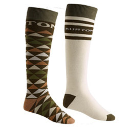 Burton Weekend 2 Pack Snowboard Socks, Forest Night, 256