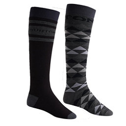 Burton Weekend 2 Pack Snowboard Socks, True Black, 256