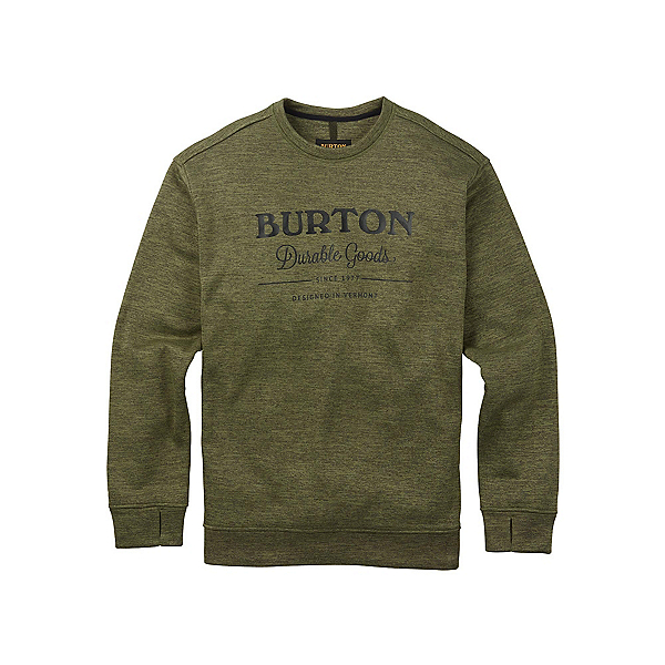 Burton Oak Crew Mens Sweatshirt, Dusty Olive Heather, 600