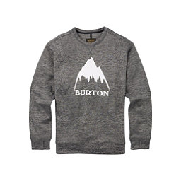 Burton Oak Crew Mens Sweatshirt, True Black Heather, 256