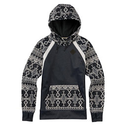 Burton Heron Pullover Womens Hoodie, True Black Heather-Black Mojav, 256
