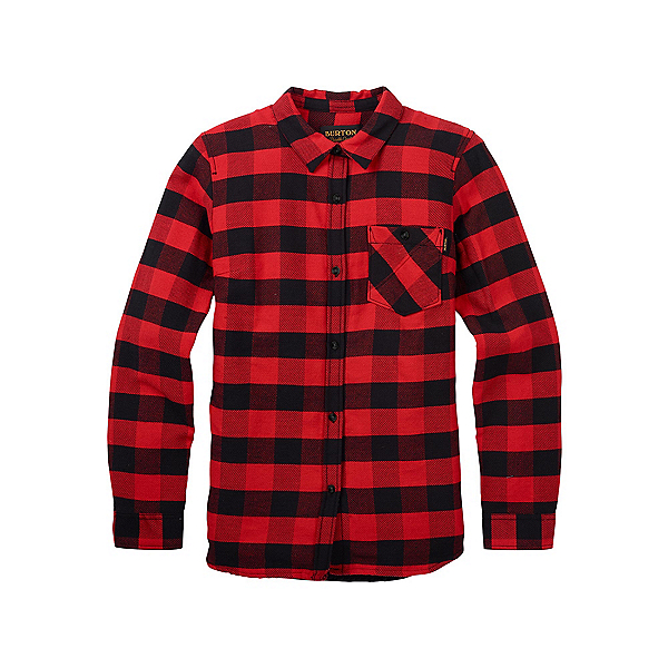 Burton Grace Sherpa Womens Flannel Shirt, Fiery Buffalo Plaid, 600