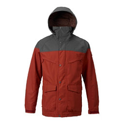 Burton Breach Mens Shell Snowboard Jacket, Fired Brick-Faded, 256