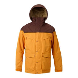 Burton Breach Mens Shell Snowboard Jacket, Golden Oak-Chestnut, 256