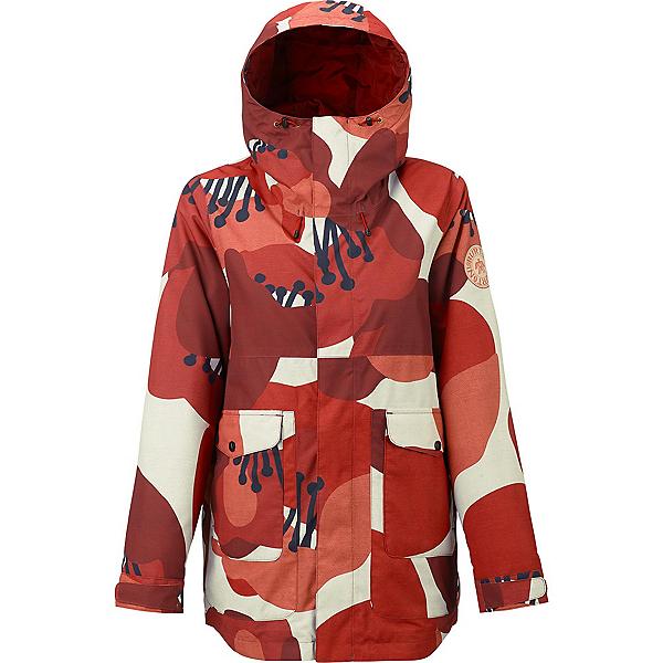 Burton Cerena Parka Womens Insulated Snowboard Jacket, Canvas Poppyfield, 600
