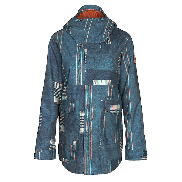 Burton Cerena Parka Womens Insulated Snowboard Jacket, Rainbow Stripe, 600