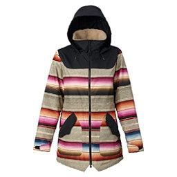 Burton Prowess Womens Insulated Snowboard Jacket, Mija Stripe-True Black, 256