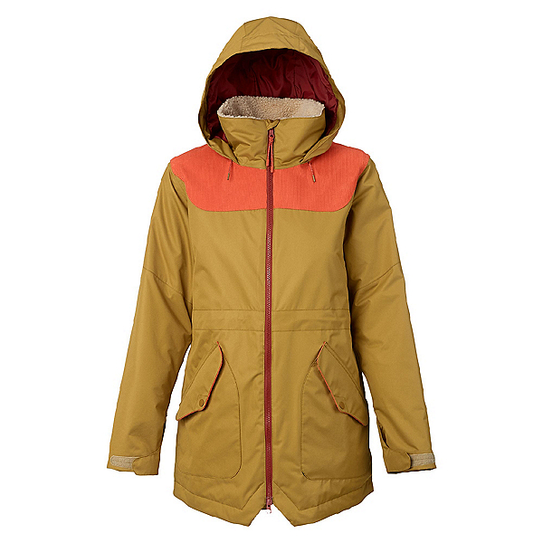 Burton Prowess Womens Insulated Snowboard Jacket, Plantation-Persimmon, 600