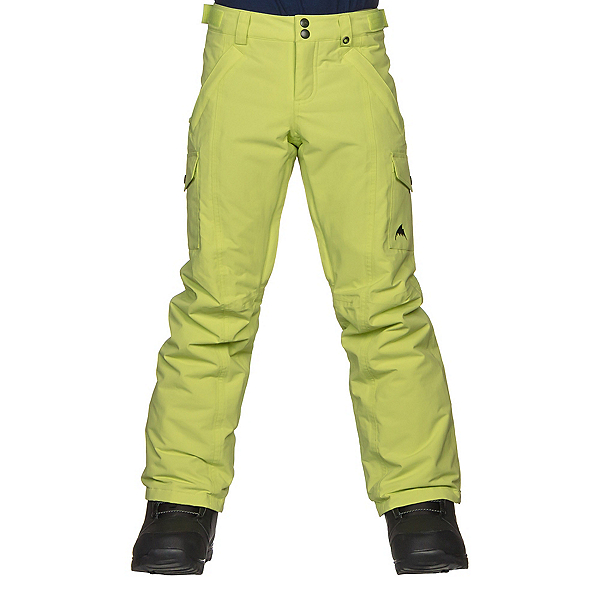 Burton Elite Cargo Girls Snowboard Pants, Honeydew, 600