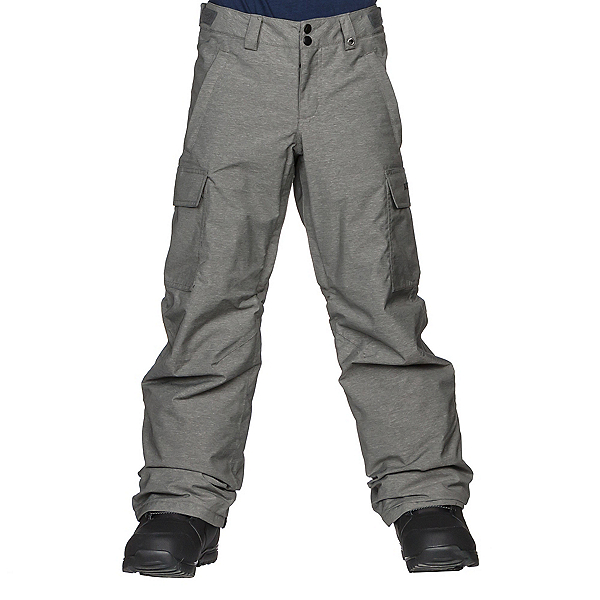Burton Exile Cargo Kids Snowboard Pants, Heathers, 600