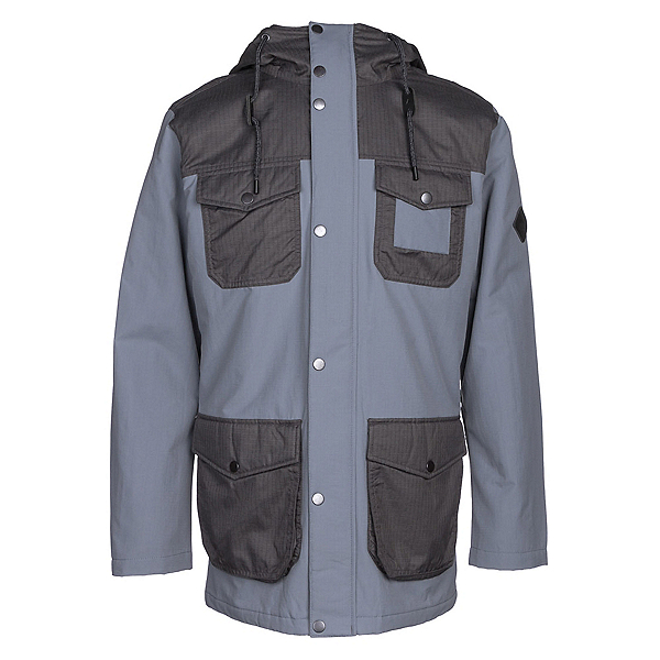 Burton Match Mens Insulated Snowboard Jacket, La Sky-Faded, 600