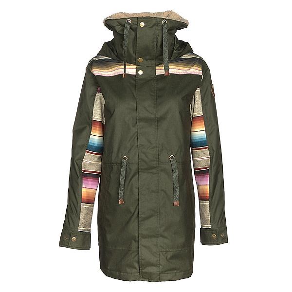 Burton Hazelton Womens Jacket, Forest Night-Mija Stripe, 600