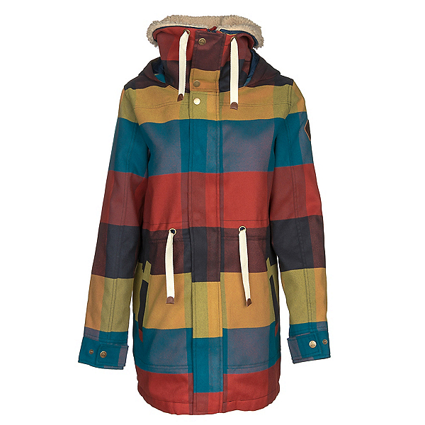 Burton Hazelton Womens Jacket, Cally Plaid, 600