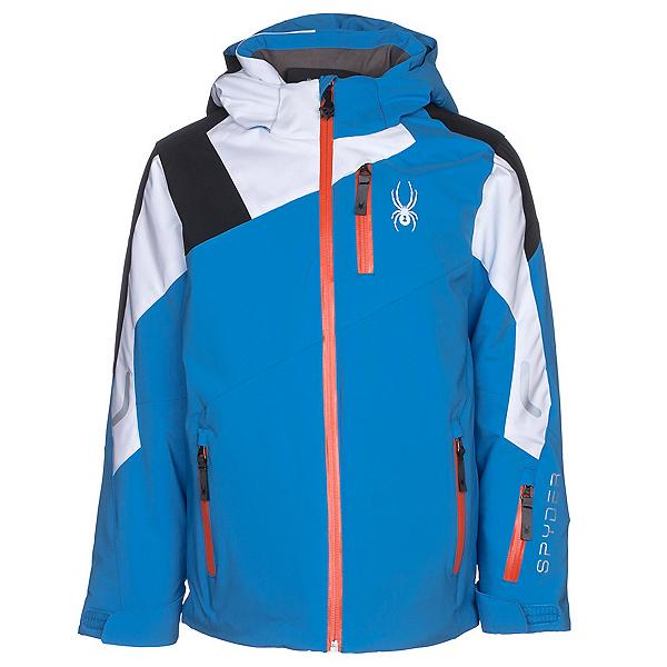 Spyder Avenger Boys Ski Jacket, French Blue-White-Black, 600