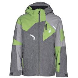 Spyder Leader Boys Ski Jacket, Polar Herringbone-Limestone-Fr, 256