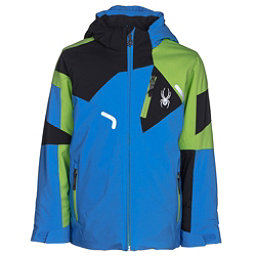 Spyder Leader Boys Ski Jacket, French Blue-Fresh-Black, 256