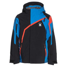 Spyder Challenger Boys Ski Jacket, Black-French Blue-Burst, 256