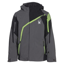Spyder Challenger Boys Ski Jacket, Polar-Black-Fresh, 256