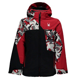 Spyder Ambush Boys Ski Jacket, Black-White Mini Camo Print-Re, 256