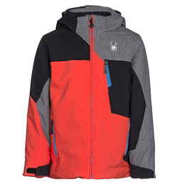 Spyder Ambush Boys Ski Jacket, Burst-Black-Polar Herringbone, 256