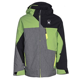 Spyder Ambush Boys Ski Jacket, Polar Herringbone-Fresh-Black, 256