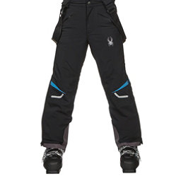 Spyder Force Kids Ski Pants, Black-French Blue, 256
