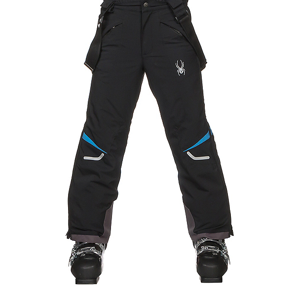 Spyder Force Kids Ski Pants, Black-French Blue, 600