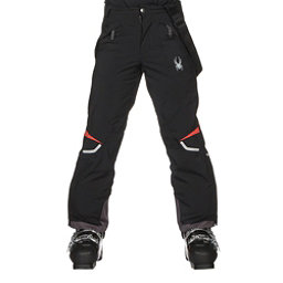 Spyder Force Kids Ski Pants, Black-Burst, 256