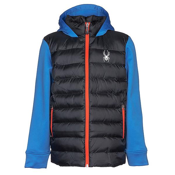 Spyder Mt Elbert Kids Jacket, Black-French Blue, 600