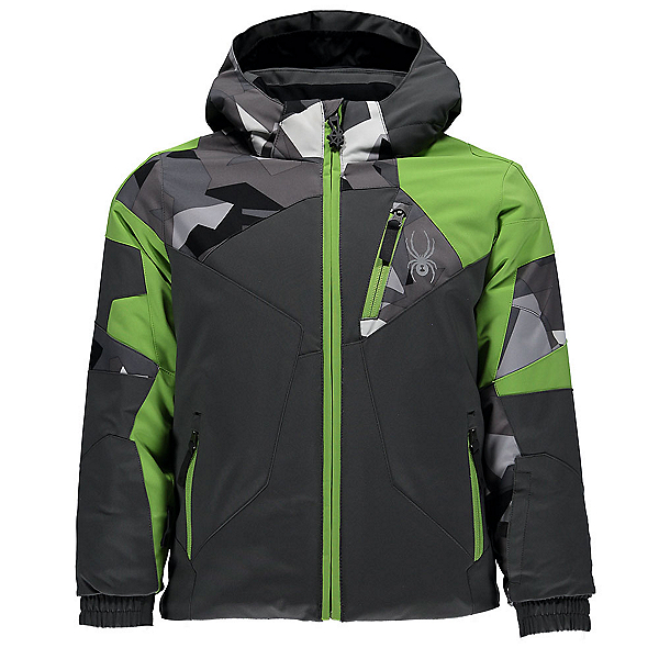 Spyder Mini Leader Toddler Ski Jacket, Polar-Polar Herringbone-Fresh, 600