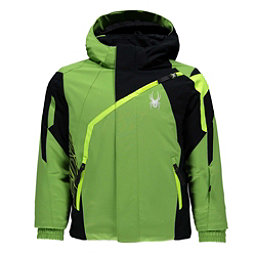 Spyder Mini Challenger Toddler Ski Jacket, Fresh-Black-Bryte Yellow, 256