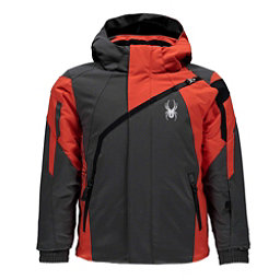 Spyder Mini Challenger Toddler Ski Jacket, Polar-Burst-Black, 256