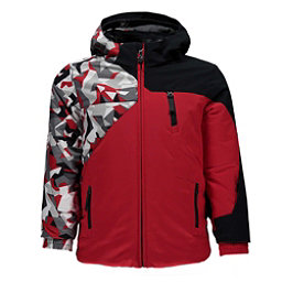 Spyder Mini Ambush Toddler Ski Jacket, Red-White Mini Camo Print-Blac, 256